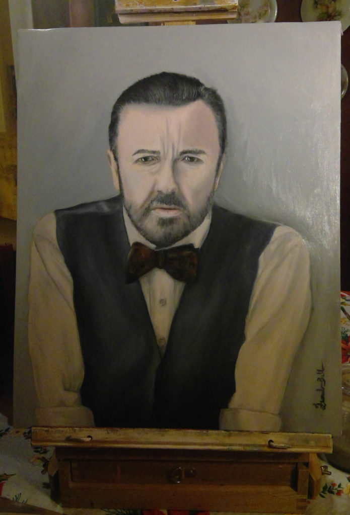 Ricky Gervais Painting