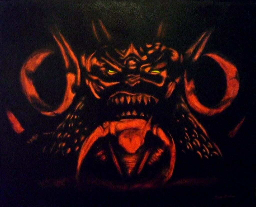 Diablo, Oil Painting by Fernando Bello