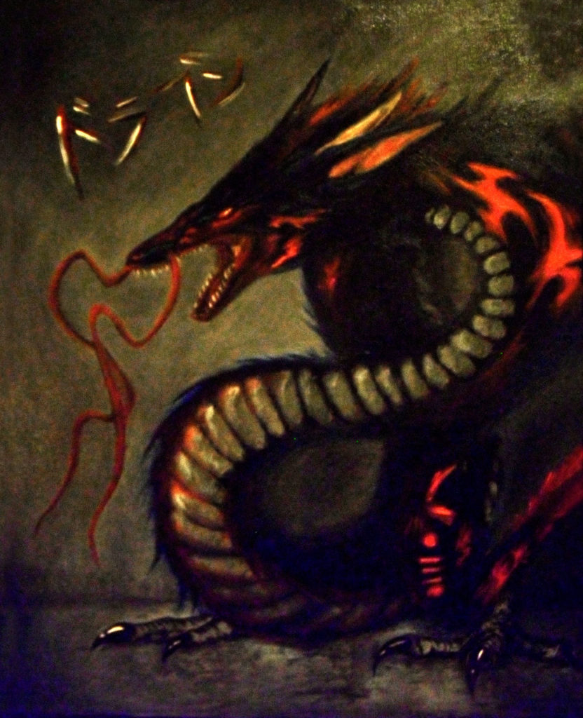 Dragon Lord by Fernando Bello, Oil Painting.