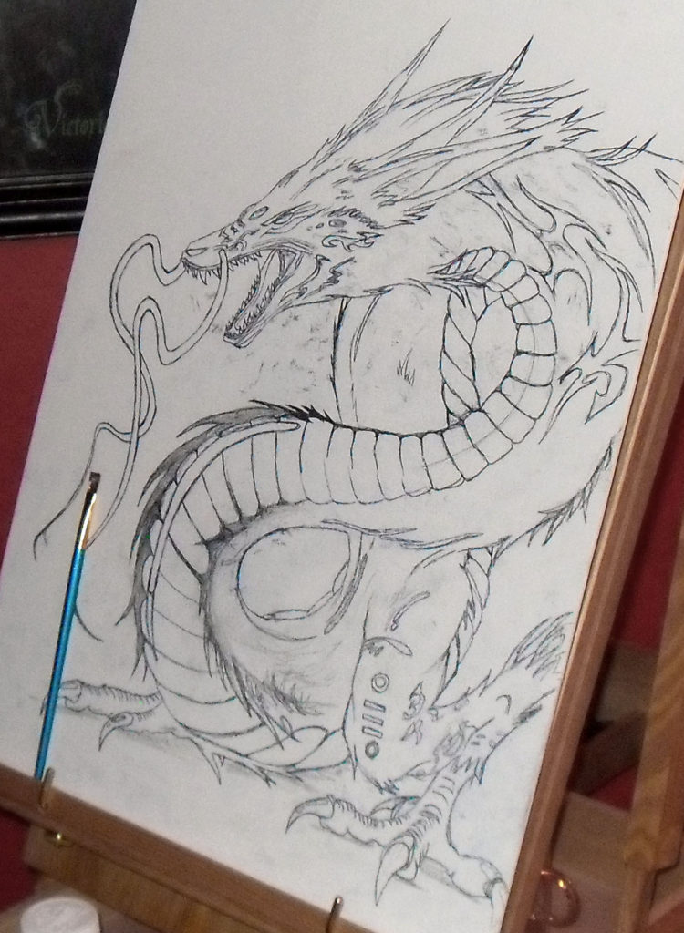 dragon lord drawing