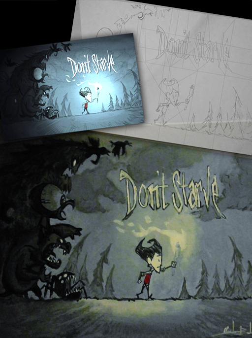 "Homenage to the game ""Don't Starve""."